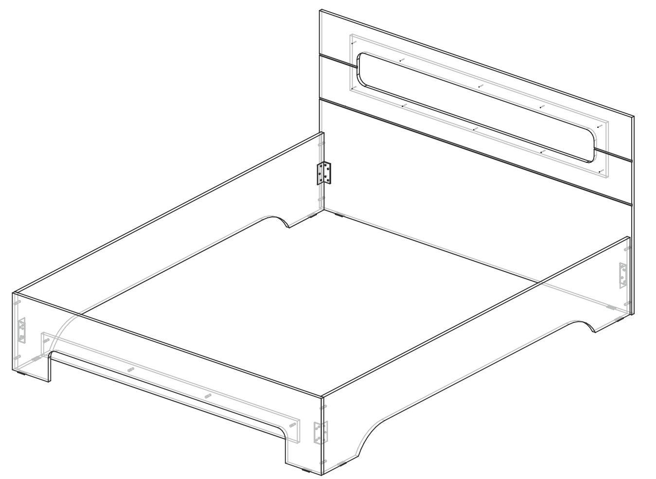 Кровать 1600 Палермо